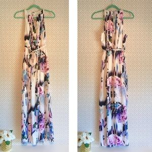 Jennifer Lopez Maxi Dress Floral Medium